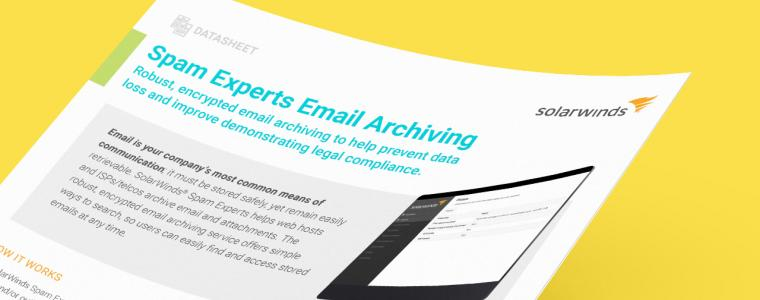 Email Archiving Datasheet